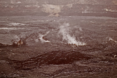Day Four - Volcanoes National Park.  Vog emitting from Kilauea caldera.