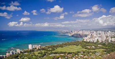 Day One - Top of Diamond Head, view of Waikiki