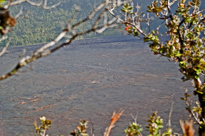 Day Four - Volcanoes National Park.  Mark and Ruth hiked around this crater and through the middle.  It is called Kilauea Iki.  Look closely and you can see people walking across the path that Mark and Ruth later traversed.