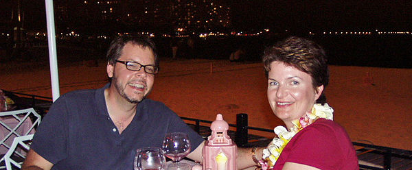 Day One - Waikiki, At dinner on the beach.