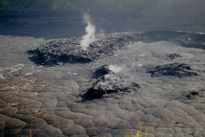 Day Four - Volcanoes National Park.  Steam rising from the floor of the Kilauea Iki caldera that Mark and Ruth hiked through.