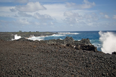Day Five - Lava Flow off east coast of island. On way back from Champagne Pond.