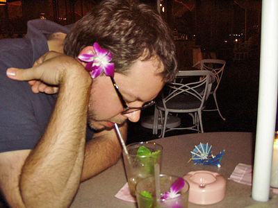 Day One - Waikiki, yes, Mark regretted the Mai Tai.
