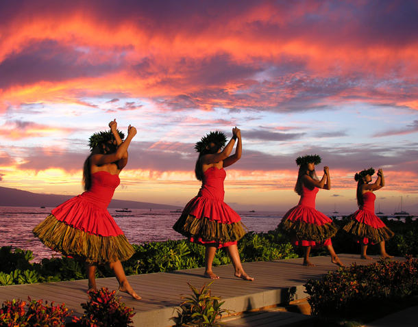 These Dancers performed at the Feast of LeLe, in Lahina, Maui, HI