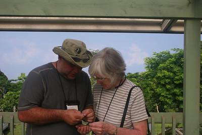 8-16-06 Kona - Mom & Glen examining a coffee bean