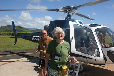 8-17-06 Kauai - Island Helicopter Ride - Well that was fun