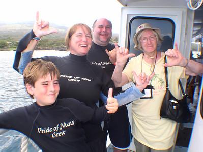 "August 15, 2006  Maui - Pride of Maui - Molokini Snorkel. ""Hang Loose"""