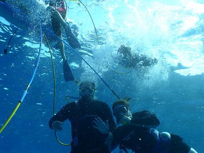 August 15, 2006  Maui - Pride of Maui - Molokini Snorkel. Glen & Mary Beth Snuba diving.