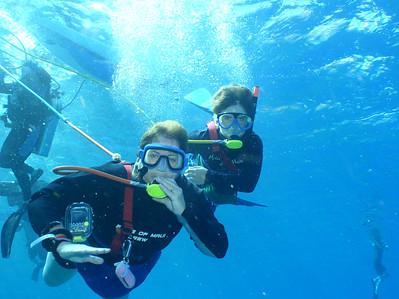 August 15, 2006  Maui - Pride of Maui - Molokini Snorkel. MB & Nate