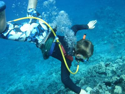 August 15, 2006  Maui - Pride of Maui - Molokini Snorkel. - Nate snuba diving.