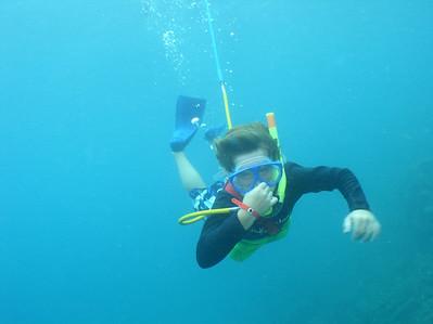 August 15, 2006  Maui - Pride of Maui - Molokini Snorkel. Nate snuba diving. He did great.