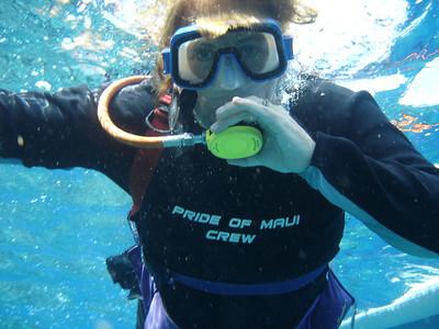 August 15, 2006  Maui - Pride of Maui - Molokini Snorkel. Mary Beth