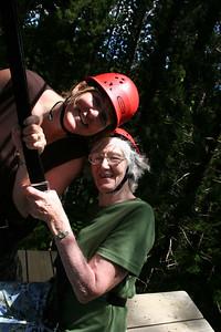 8-17-06 Kauai - Treetop Zipline Eco Adventure - Mom &  MB