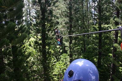 8-17-06 Kauai - Treetop Zipline Eco Adventure - Nate 60-80 feet up