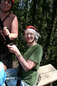8-17-06 Kauai - Treetop Zipline Eco Adventure - Just relaxing