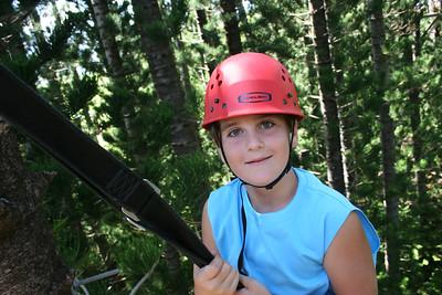8-17-06 Kauai - Treetop Zipline Eco Adventure - Nate at 8 (Until the 29th)