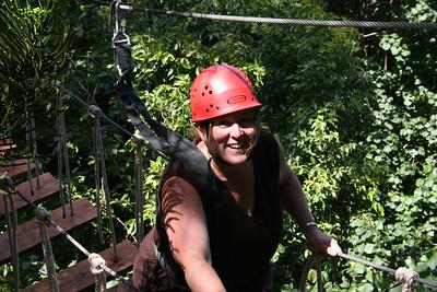 8-17-06 Kauai - Treetop Zipline Eco Adventure - MB's turn on the bridge