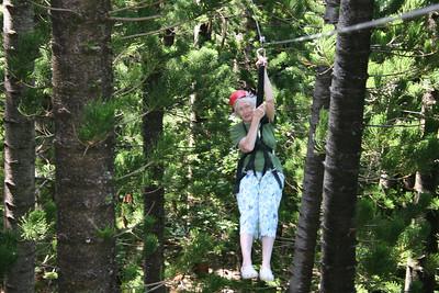 8-17-06 Kauai - Treetop Zipline Eco Adventure - Like a pro