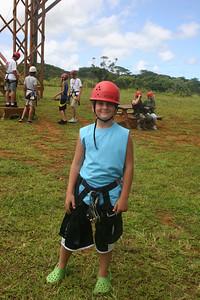 8-17-06 Kauai - Treetop Zipline - It's almost time to start