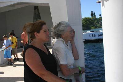 8-19-06 U.S.S. Arizona Memorial - Mom & MB
