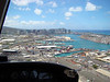 This is looking out at shipping port. The downtown area is in the distance with WiKi just behind that. You can also see Diamond Head in the background.