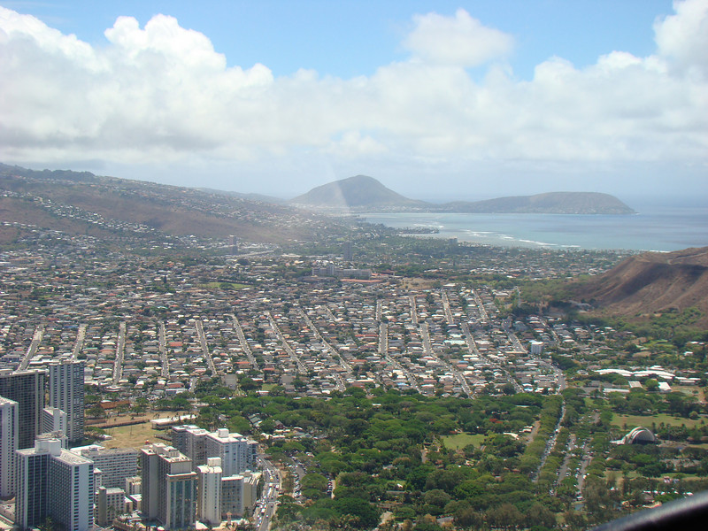 A residential area just at the base of Diamond Head.