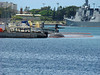One of 2 Los Angeles class nuclear attack sub's in port.