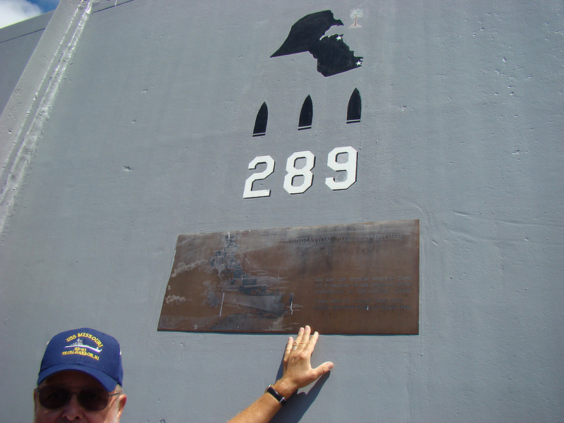 The Missouri actually was used in Operation Desert Storm where it fired 289 shells from it's 16 inch guns.