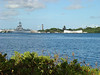 The Battleship Missouri and the Arizona memorial.