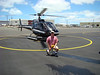 This is the helicopter we took, with the pilot in the window.