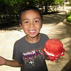 <center>Jacob and his first Hawaiian shaved ice with ice cream..he finished it!!</center>