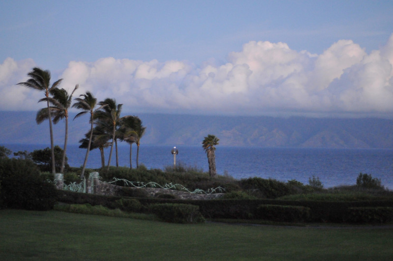 View from our condo, early morning light. Hawaii Oct 2010. Maui (Kapalua, Lahaina) and Oahu (Pearl Harbor)