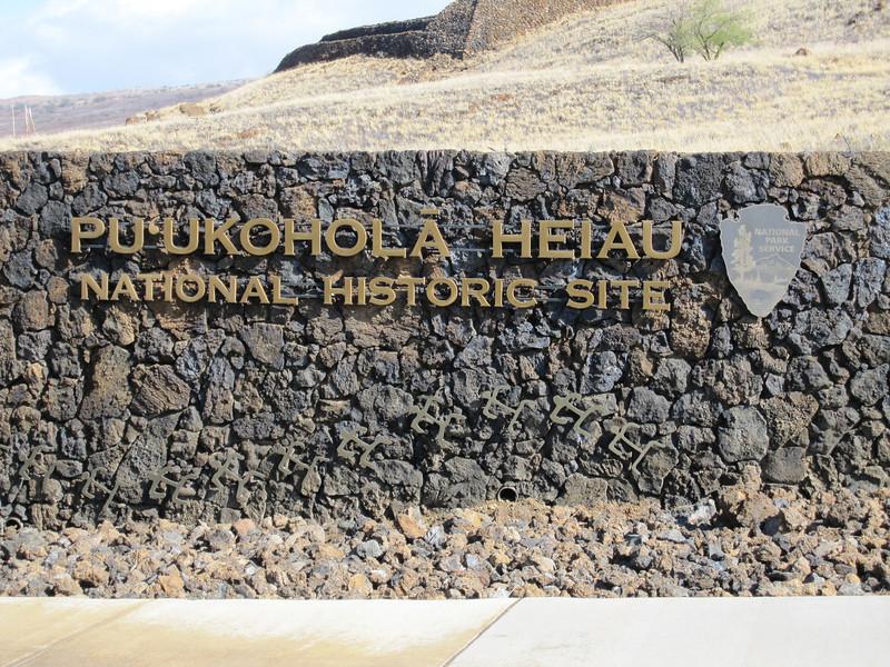 Pu'ukohola Heiau - The heiau is in the background.