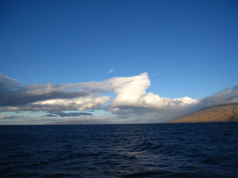 Clouds!  This is sailing on the way to Molokini Crater.