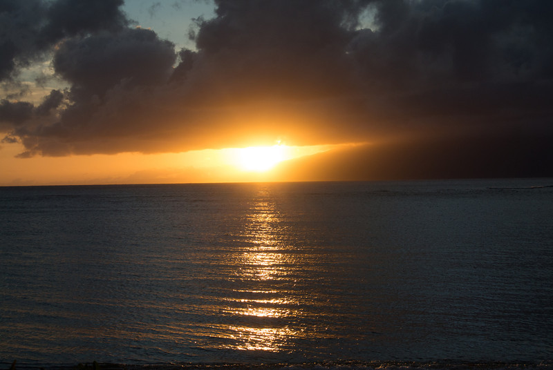 Sunset in Hawaii...