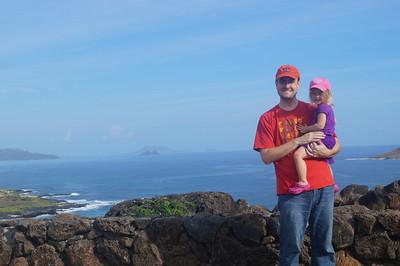 October 12, 2013 -- (Makapu'u Beach Overlook, Honolulu County, Waimanalo, Hawaii) -- Jonathon & Ada over Makapu'u Beach