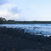 Black beach.. It was getting dark by the time we got there