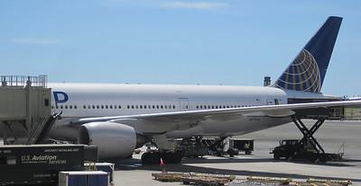 October 11, 2013 - (Our United Airlines 777, after landing) / Honolulu International Airport, Honolulu, Honolulu County, Hawaii) -- United Airlines 777