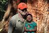 October 15, 2013 - (Kea'iwa Heiau State Park, Honolulu County, Aeia, Hawaii) -- Jonathon & Ada on the Aiea Loop Trail