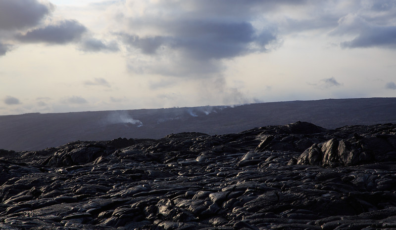 Shows the direction of the flow of Lava underground... You see the smoke where there is an opening
