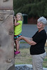 October 16, 2013 - (Bellows Air Force Station, Honolulu County, Waimanalo, Hawaii) -- Ada attempting to climb with a little help from her Nan [MaryAnne] at Bellows AFS