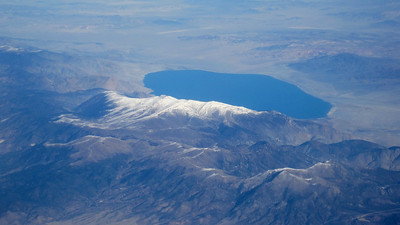October 11, 2013 (Over Lake Mono, California, aboard United Airlines flight)