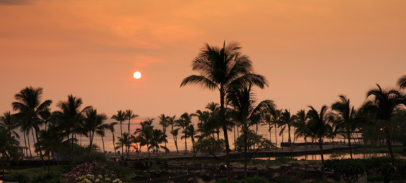 Sunsets are beautiful in Hawaii.