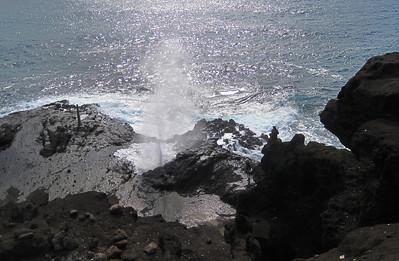 October 12, 2013 -- (Makapu'u Beach Overlook, Honolulu County, Hawaii Kai, Hawaii) -- Halona Blowhole