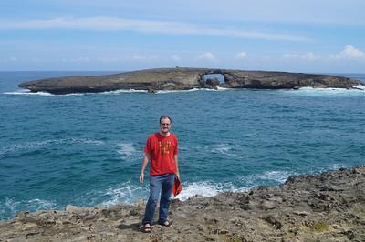 October 12, 2013 -- (Sea arch off La'ie Point, La'ie, Honolulu County, Hawaii) -- Jonathon