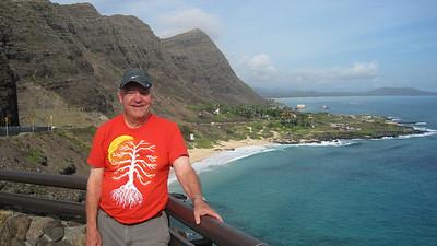 October 12, 2013 -- (Makapu'u Beach Overlook, Honolulu County, Waimanalo, Hawaii) -- David over Makapu'u Beach