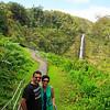 Akaka Falls in the background