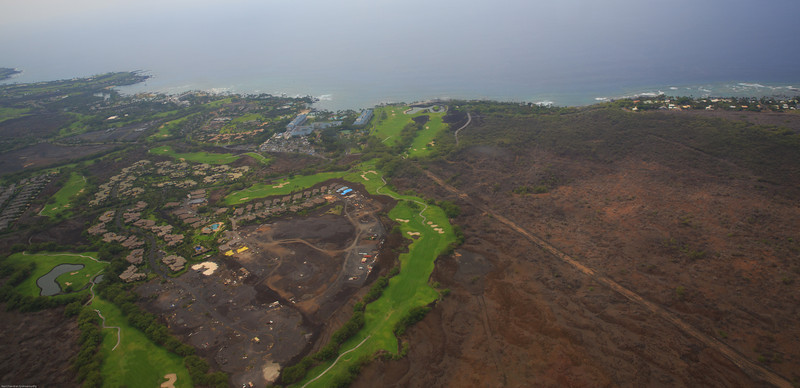 View of Hilton and Marriott at Waikoloa Beach