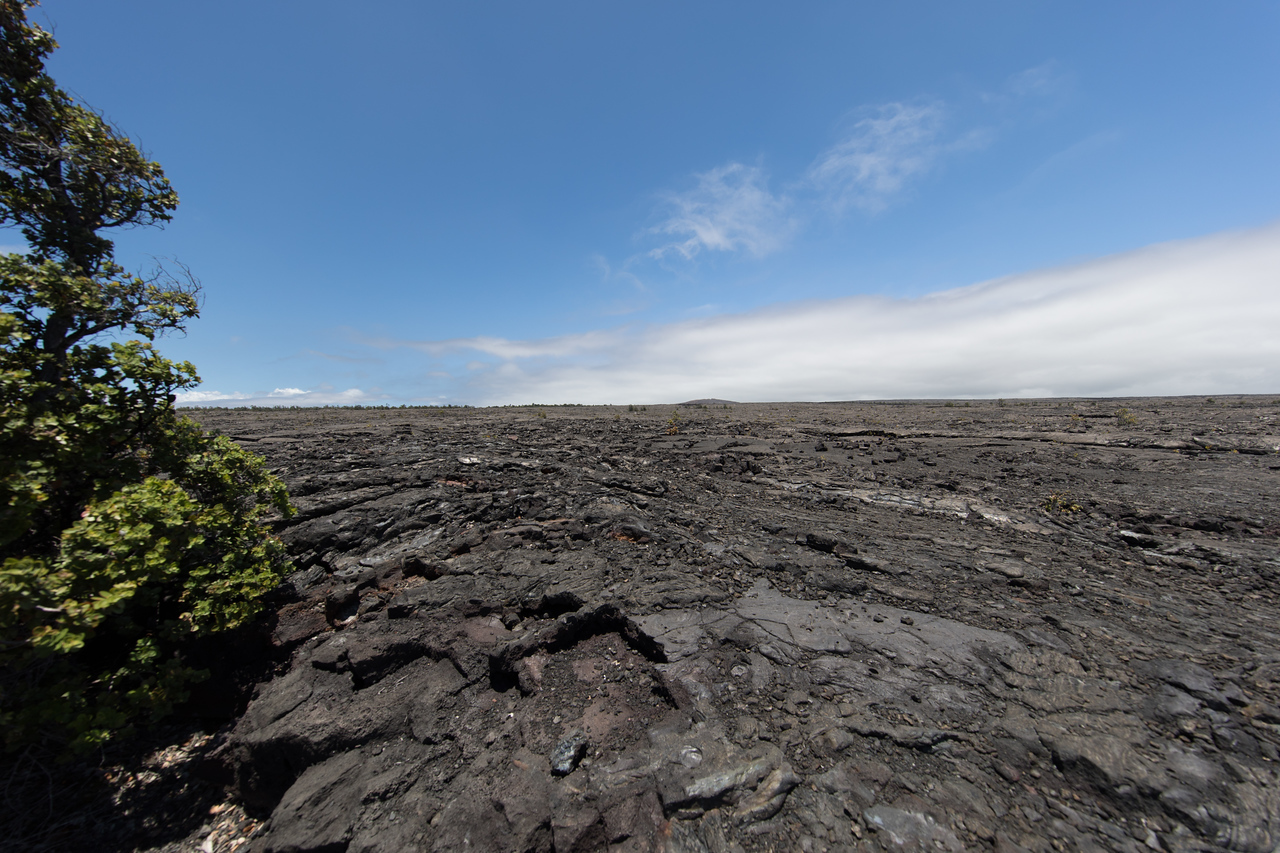 Along the well named Chain of Craters road.