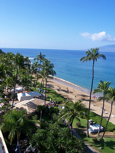 Nice view of the beach from our room.